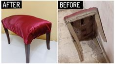 old dressing table stool restoration process, old furniture repairing and refinishing with simple tools