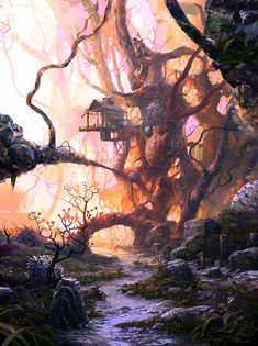 """Road"" by DeviantArt artist VityaR83 #painting #surreal #fantasy"
