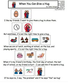 Visual Social Story Packet for Children with Autism: Personal Space Set Social Skills Activities, Teaching Social Skills, Social Skills Autism, Social Stories Autism, Autism Resources, School Social Work, Autism Classroom, Children With Autism, Autistic Children
