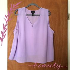 I just discovered this while shopping on Poshmark: Lavender tank. Check it out! Price: $21 Size: 3X, listed by hbottenfield