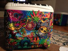 Custom Painted Cooler by LoneStarPearl on Etsy, $260.00