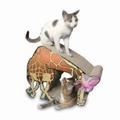 Cat Bed, Measuring 43 x 24.5 x 32.5cm, Made of 100% Recyclable Corrugated Cardboard