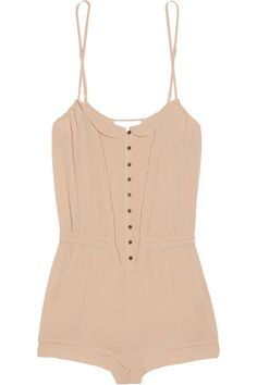 Playsuit. I imagine this being super cute.tucked into a pair of jeans with a cute cardigan or blazer.