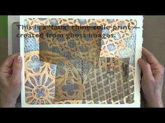 Gelli Printing Faux Chine Colle - YouTube