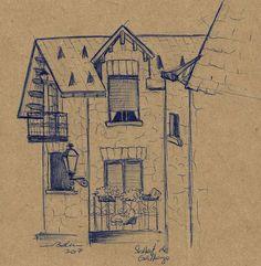 Casa en Sallent de Gállego, Huesca. Vintage World Maps, Home, Nativity Scenes, Sketches, Drawings