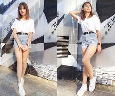#sneakers #petite #brunette #streetwear #urban #rockchic #girly #minimal #autumn…