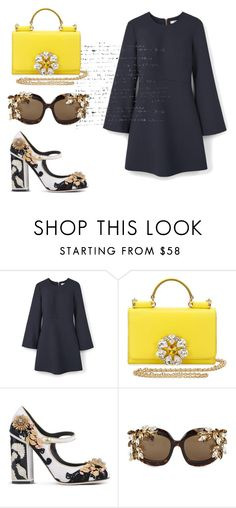 """Untitled #208"" by liiiilylove ❤ liked on Polyvore featuring MANGO, Dolce&Gabbana and Dsquared2"