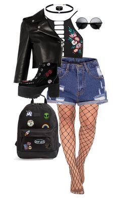 """""""••"""" by dngrsw on Polyvore featuring moda, River Island, Yves Saint Laurent, T.U.K., Carbon & Hyde, Rip Curl, Hipstapatch, C&D Visionary, ZeroUV e Gucci"""