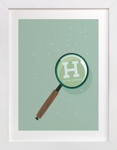 Magnify Letters by Baumbirdy at minted.com