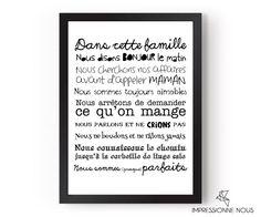 """Poster """"les règles de la famille"""" via Impressionne nous. Click on the image to see more!"""