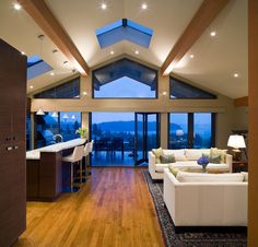 Vaulted Ceiling Living Room Design Ideas (5)