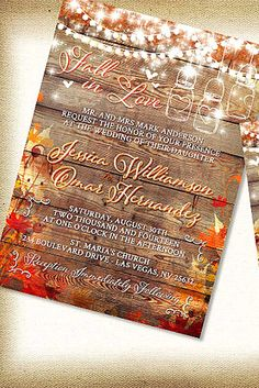 fall wedding postcards and invitations 2