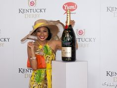 Jeannie Mai does a tropical take on Derby style