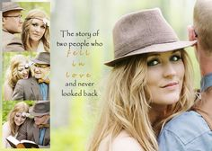 cute idea! the story of how two people fell in love and never looked back (engagment session, wedding pictures and trash the dress session in one book?)