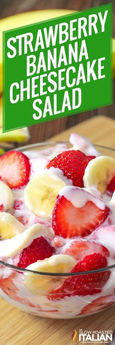 Strawberry Banana Cheesecake Salad (With Video)