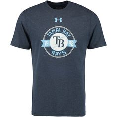 new arrival edda8 89145 MLB Tampa Bay Rays Under Armour Tri-Blend Performance T-Shirt - Navy  Baseball