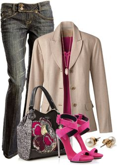 """Blazer & Jeans III"" by brendariley-1 on Polyvore"