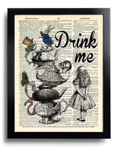 Alice au pays des merveilles Wall Art Poster Art Alice au