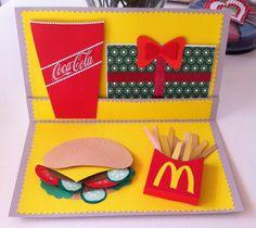 Kort til en bekendt der er vild med burger og Mac D