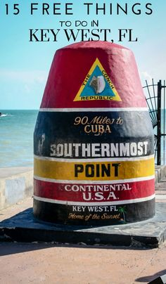 Planning a trip to the Florida keys? Key West should be on your list for the perfect beach vacation, along with these 15 free things to do in Key West Florida! Florida Keys, Key West Florida, Florida Vacation, Florida Travel, Florida Beaches, Travel Usa, Travel Tips, Tampa Florida, Beach Travel
