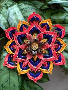 For everyone working with radial symmetry or quilling. Quilled Mandala by all things paper, via Flickr