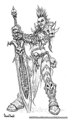 Female Troll Death Knight by Arsenal21 on DeviantArt