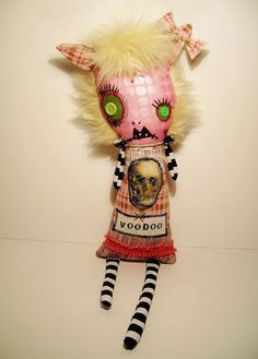 Handmade Art Doll  Monster Voodoo Victoire by JunkerJane on Etsy