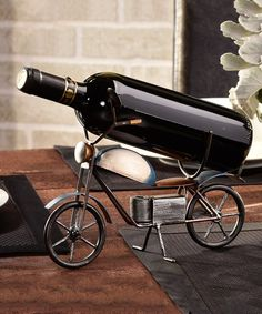 This Metal Vintage Motorcycle Wine Bottle Holder is perfect! #zulilyfinds
