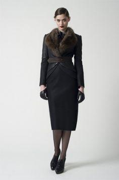 Fifties winter fashion. Love it!