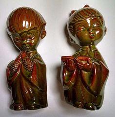 "Bar Harbor Maine Figurines, Set Of (2) 9"", Excellent Condition Vintage"