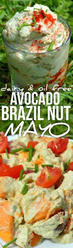 Mayonaise van avocado en paranoten.