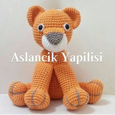 The amigurumi lion, which I will tell about its construction, is actually a … - Knitting Women Lion Crochet, Crochet Amigurumi Free Patterns, Crochet Doily Patterns, Baby Knitting Patterns, Crochet Animals, Crochet Toys, Crochet Baby, Amigurumi For Beginners, Crochet Disney