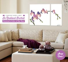 Canvas Wall Art in Radiant Orchid from GreenBox Art