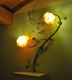 I found 'Custom Made Italian Yellow Rose Wall Lamp' on Wish, check it out!