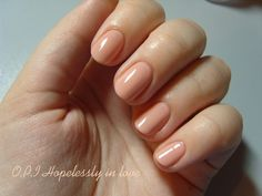 opi - nude nails. lovely