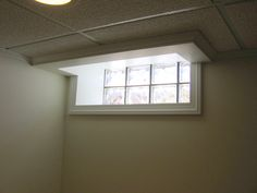 Inspirational Drop Ceiling Basement Window