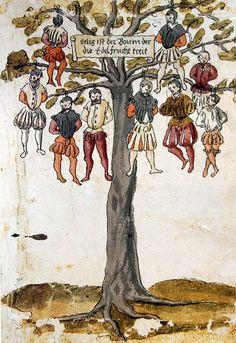 Johann Jakob Wick - Nine noble Spaniard hanged in the Netherlands (1567).  > Wickiana.