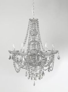 Holly Willoughby Smoke 6 Light Glass Chandelier - Home, Lighting & Furniture- BHS Chandelier Ceiling Lights, Glass Chandelier, Chandeliers, Lamp Light, Light Bulb, Stair Landing, Holly Willoughby, Island Pendants, Wisteria
