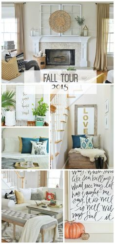 City Farmhouse Fall Tour BHG 2015- 2 old windows, check. 1 woven bowl, check. This is nice for nook wall maybe?