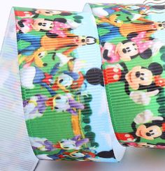 Minnie Mickey Mouse Donal Duck & friends  by Universalideas, $1.60 This ribbon is great to use for hair bows, woven headbands or many other craft projects.   • Width One inch  • Background Multicolor • Polyester  • If you buy more than one piece a continuous yardage will be cut off in one piece unless otherwise specified.  PRICE BY YARD ( Length 36 inches ) https://www.etsy.com/listing/155284173/minnie-mickey-mouse-donal-duck-friends?ref=shop_home_active