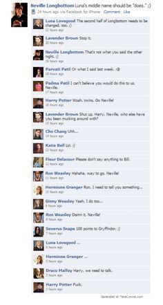funniest harry potter facebook status ever