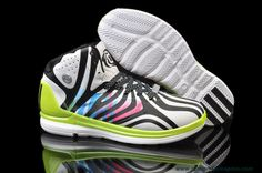 31d5229fe09 Adidas Adizero Rose 4.5 White Black Atomic Green Shoes Outlet Cheap Adidas  Shoes