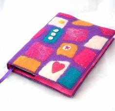 Notebook, Sketchbook, Journal, Diary Cover, A5, Handmade Felt, 'Mosaic' £35.00