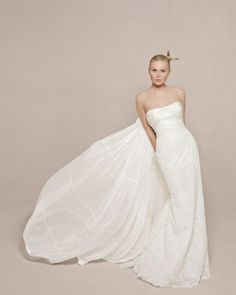 Wedding Dress with a Flowing Train - Rivini