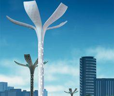 Solar Flower Petal street lamps. Philips.