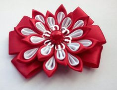 Accessory for dog/Red dog bow tie /Flower Interchangeable dog Collar or harness accessory with elastic The diameter of the bow - 3,54 inches The
