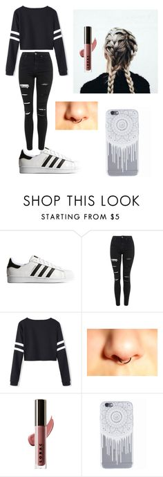 """Untitled #4"" by murtw ❤ liked on Polyvore featuring adidas Originals, Topshop and LORAC"