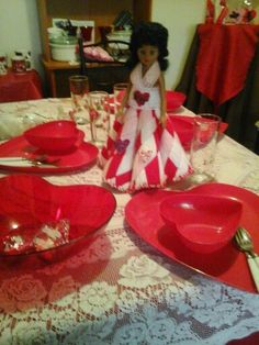 My table setting for 2015 valentine day