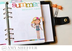 Summer Bucket List Page by Amy Sheffer for Papertrey Ink (June 2016)
