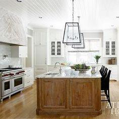 Atlanta Homes & Lifestyles - kitchens - white cabinets, white cabinetry, white kitchen